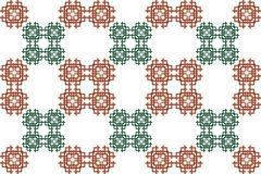 Seamless image of the elements goldline interlacing. - stock illustration