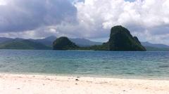 Landscape of El Nido. Palawan island. Stock Footage