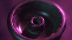 Tobacco pours into the hookah close-up - stock footage