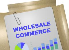 Wholesale Commerce business concept - stock illustration