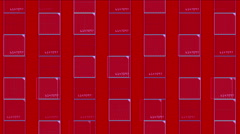4k Virtual number square,science tech lines,matrix grid scanning background. - stock footage