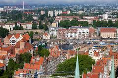 Gdansk Cityscape From Above Stock Photos