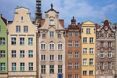 Historic Tenement Houses in Gdansk - stock photo