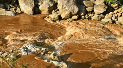 Turbid water of tropical river after hard rain Stock Footage