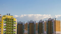 Buildings and clouds in the summer - stock footage