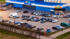 Car park in the evening - stock footage