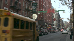 New York School Bus, Little Italy Stock Footage