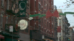 Little Italy New York, Christmas - stock footage