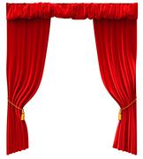 Red Curtains Isolated - stock illustration