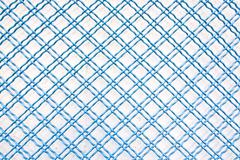 Blue iron grid - stock photo