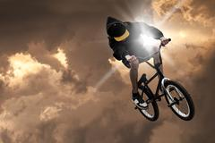 Extreme sport bmx Stock Photos