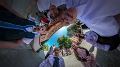 360Vr Video Kids Hamming at Camera Celebration Last Study Day Opole Happy Kids Stock Footage