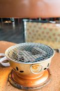 Empty charcoal grill (coal grill) Stock Photos