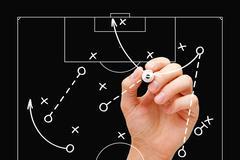 Football Coach Game Tactics Stock Photos