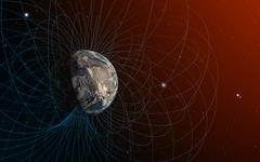Planet Earth's magnetic field Stock Illustration