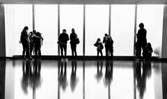 People in One World Observatory in New York City - stock photo