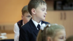 Russian elementary school, the first class. Russia Stock Footage