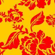 Vector vintage floral seamless pattern element. seamless floral background. R - stock illustration
