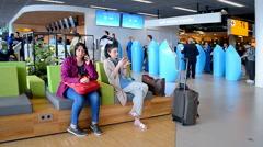 Renewed Amsterdam Airport Schiphol 2016 in Amsterdam, Netherlands. Stock Footage
