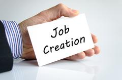 Job creation text concept Stock Photos