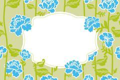 Frame rose Vintage background. Old flowers pattern - stock illustration