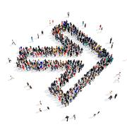 People group arrow 3d Stock Illustration