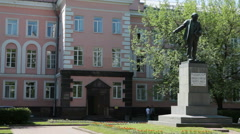 Monument of Vladimir Ilyich Ulyanov, alias Lenin, Russia Stock Footage