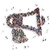 People group speaker 3d Stock Illustration
