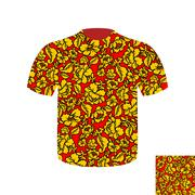 Russian folk mens T-shirt. Traditional ancient national clothes Russian peopl Stock Illustration