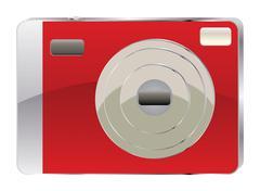 Red digital camera Stock Illustration