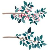 Simple Tree Branch - stock illustration