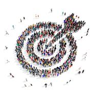 people group target 3d - stock illustration
