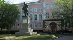 Monument of Vladimir Ilyich Ulyanov, alias Lenin Stock Footage
