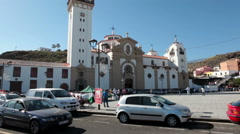 Building of Basilica of Our Lady of Candelaria, Tenerife, Canary, Spain Stock Footage