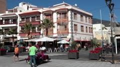 Beautiful buildings are on Plaza de la Patrona de Canarias, Candelaria, Tenerife Stock Footage