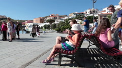 Plaza de la Patrona de Canarias near Basilica building, Candelaria, Tenerife Stock Footage