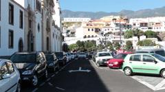 Main entrance is on square Plaza de la Patrona de Canarias, Candelaria, Spain Stock Footage