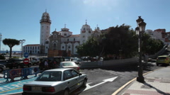 The Basilica of the Royal Marian Shrine of Our Lady of Candelaria. Tenerife Stock Footage
