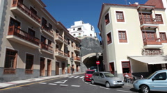 Beautiful architecture of houses is in downtown. Candelaria, Tenerife Stock Footage