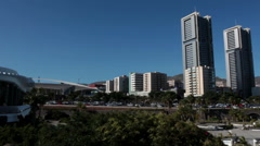 Two Torres de Santa Cruz and the Auditorio de Tenerife. Canary Stock Footage