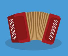 Accordion icon. Music instrument. vector graphic - stock illustration