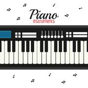 Piano icon. Music instrument. vector graphic Piirros
