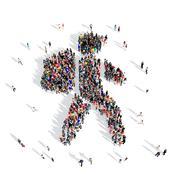 people traveler 3d - stock illustration