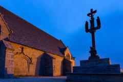 Calvary and chapel Stock Photos