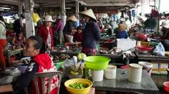 HOI AN, VIETNAM: Local market in Vietnam Stock Footage