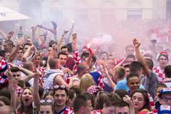 Croatian football fans Kuvituskuvat