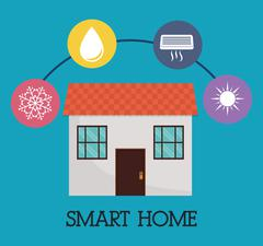 Smart House design. Technology icon. vector graphic Stock Illustration