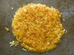 rustic golden crispy swiss rosti - stock photo