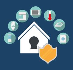 Smart House design. Technology icon. vector graphic - stock illustration