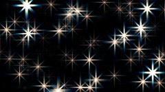 Large abstract rotating twinkling stars motion background loop Stock Footage
